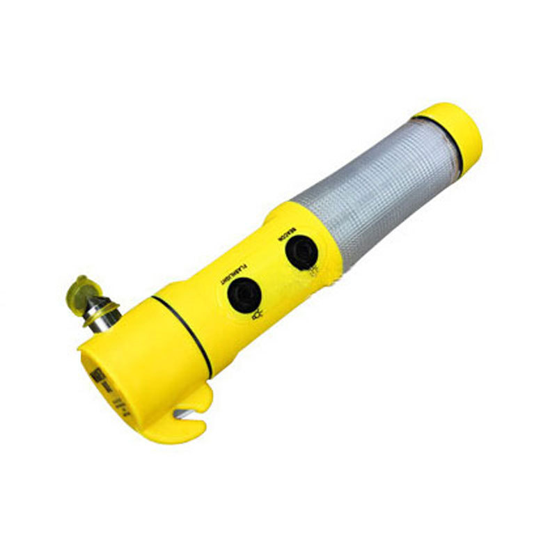 4in1 Multifunctional Car Emergency Safety Hammer Flashlight Warning Light Cutter Knife Life-saving Rescue Hammer(China (Mainland))