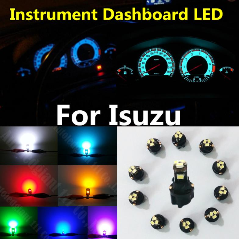 10x White Blue Red Yellow Ice Blue Green Dash Light T5 73 LED With Socket Gauge Instrument Cluster Panel Light Bulb For Isuzu(China (Mainland))