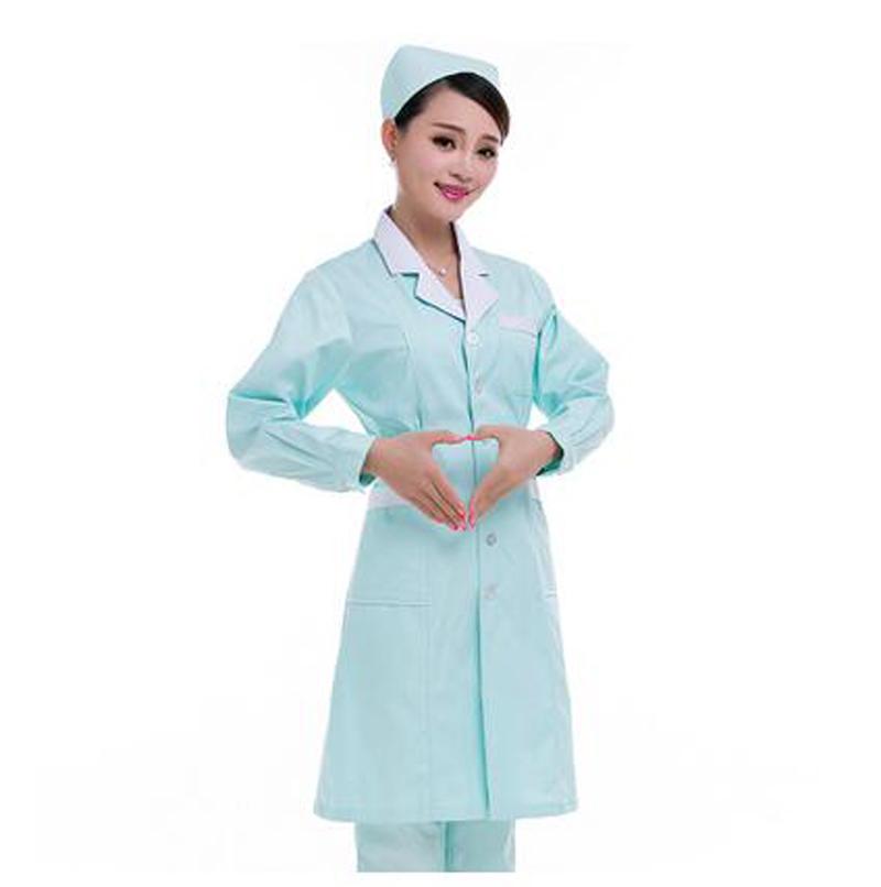 New Arrival Womens Lab Coat Medical Clothing Dental White Cotton Consultation Workwear Uniformes Medico Dental Uniform(China (Mainland))