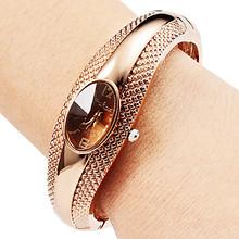 2015 New Fashion Luxury Rose Bracelet Quartz Watches Women Full Steel Casual Watch Women Wrist Watches Hour Relogio Feminino