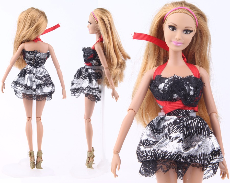 UCanaan Randomly Decide Doll Garments A Lot = 20 Units Trend Girl Outfit Put on Shirt Trousers Shorts Pant Skirt Garments for Barbie