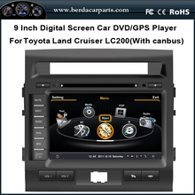Car DVD Audio Video Player For Toyota Land Cruiser 200 LC200 With GPS Radio FM AM Bluetooth Free Map(China (Mainland))
