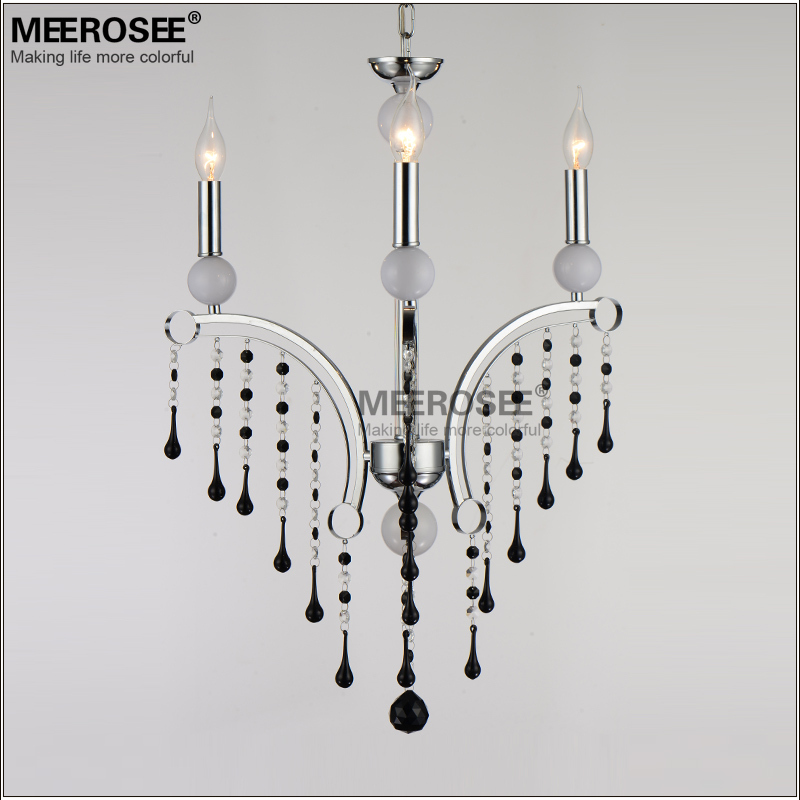 black crystal chandelier light k9 crystal modern style dining room