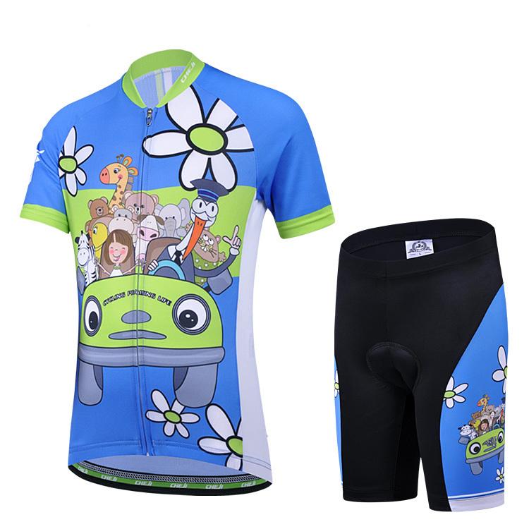 Super Slae! CHEJI Unisex New Kids Cycling Clothing Cute bike jerseys Childrens shorts Sleeve Suit(China (Mainland))