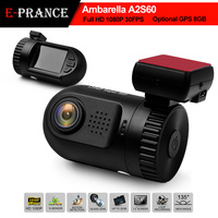 E-prance 100% Original Mini 0801 Full HD Video Recorder Car Camera DVR Ambarella A2 1080P SOS+GPS/8GB Optional