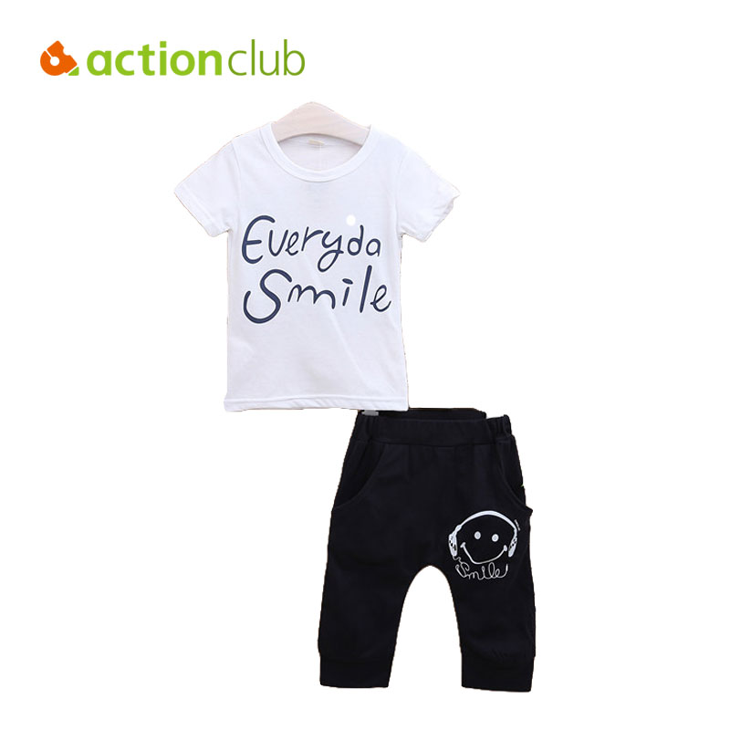 2016 Baby Boys T Shirt And Pant Kids Summer Style Clothing