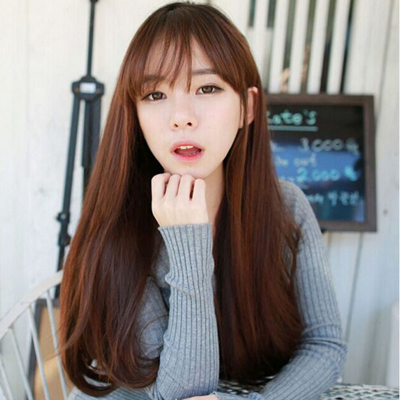 korean straight hairstyles for women with bangs www