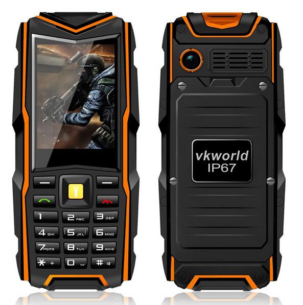 Free Gift Russia Original VKWorld Stone V3 IP67 Waterproof Phone Dustproof Shockproof 2.4'' Dual Sim 5200mAh Battery GSM Phone(China (Mainland))