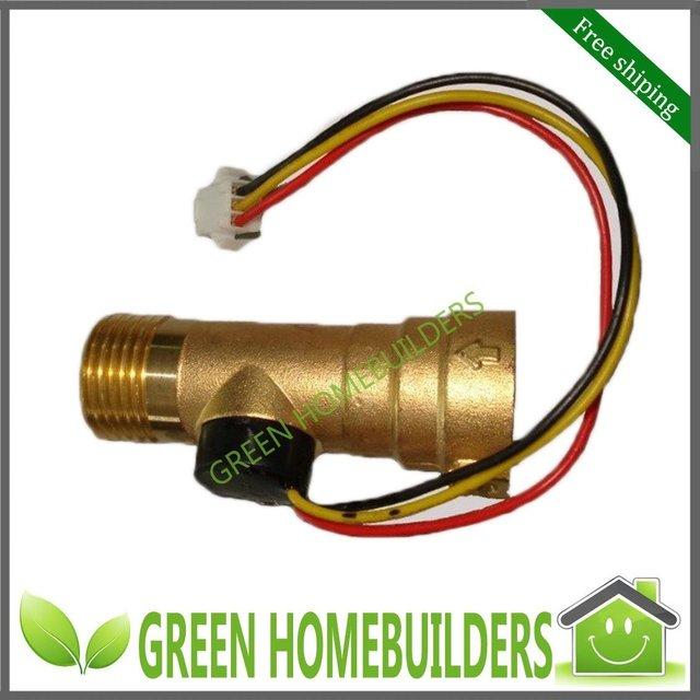 Brass digital electronic flow meter sensor 0.1-20L/M for solar water heater