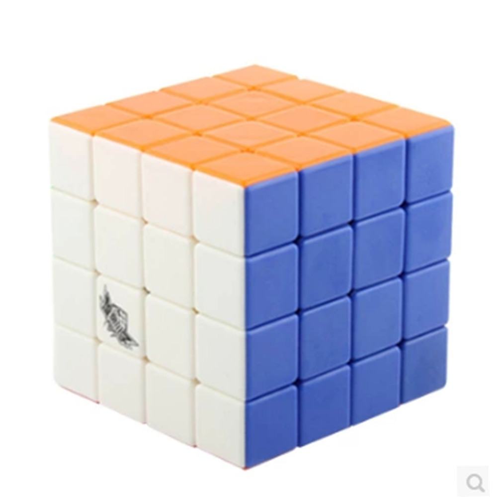New 2015 Cyclone Boys 4x4x4 Magic Cube Stickerless Speed Cube Puzzle Cubo Magico Colorful(China (Mainland))