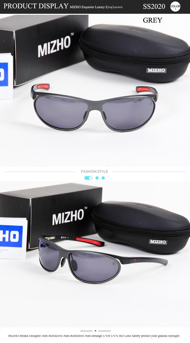 MIZHO Anti-glare Clear Drivers Car Sunglass Female Polaroid UV400 Night Driving Ladies Sunglasses Men Polarized Aluminium Wrap