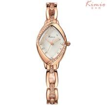 Kimio 2015 nuevas mujeres forman relojes de lujo del diamante oro de la pulsera mujeres Display analógico de cuarzo reloj de pulsera