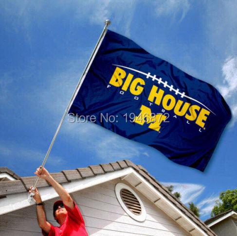 NCAA University of Michigan Wolverines Flag UM Big House Large Banner 3' x 5' Flag Custom Flag(China (Mainland))