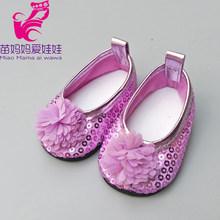"""בובת נעלי 43 ס""""מ חדש נולד תינוק בובה שחור לבן להתקשט נעלי 18 """"בנות בובת נעלי sneacker בובת אבזרים(China)"""
