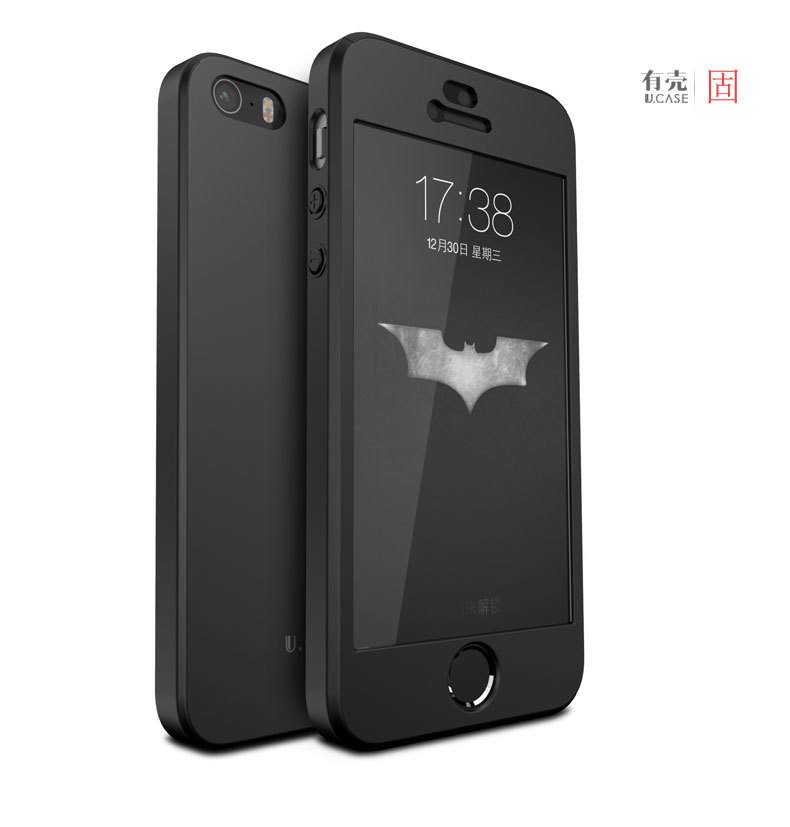 100% ORIGINAL Qoowa brand luxury full protection hard plastic case for iphone SE for iphone 5s with tempered glass protector(China (Mainland))