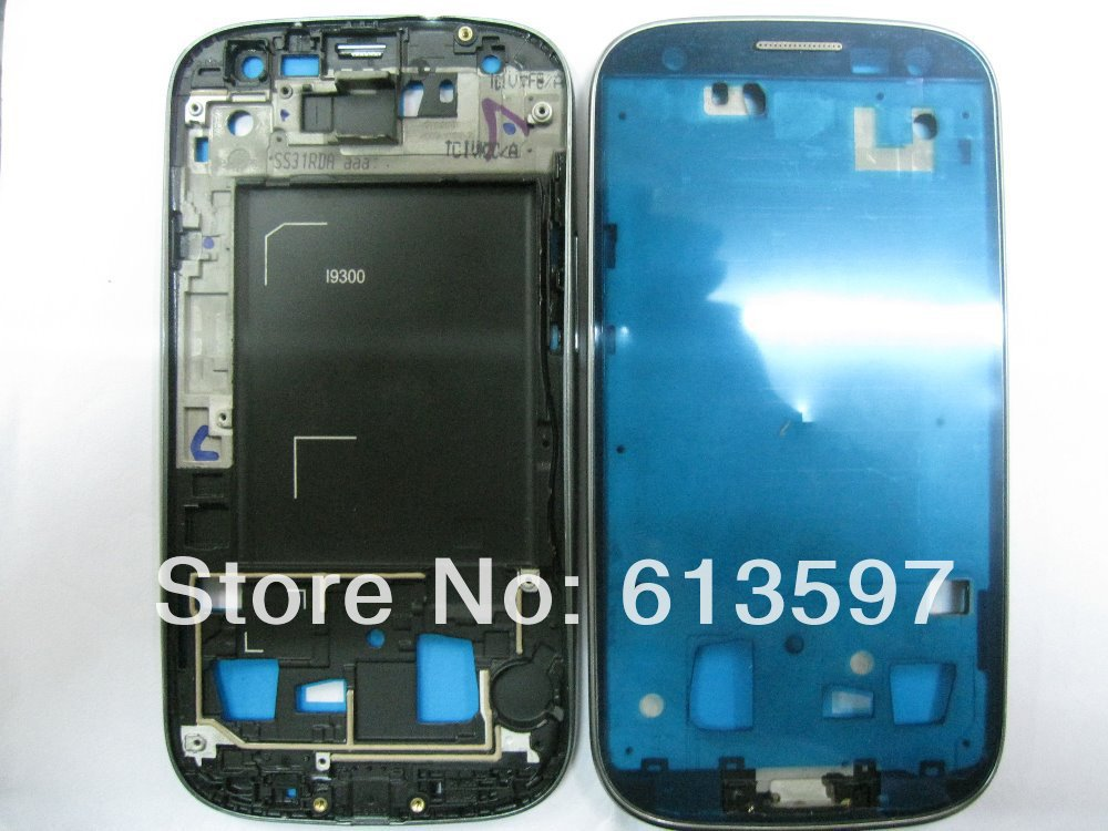 Front Housing Frame Bezel Plate for Samsung Galaxy S 3 iii I9300 OEM - white(China (Mainland))