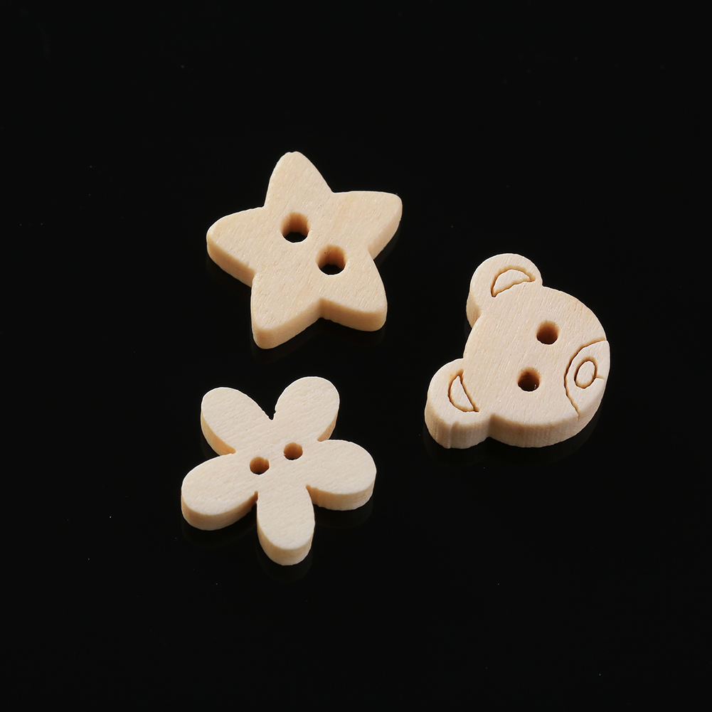 50pcs/lot Cute 2 Holes Animals Buttons Natural Wooden Button Sewing and Scrapbooking Drop Shipping High Quality(China (Mainland))