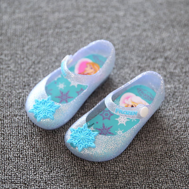 2016 New Summer Ice Snow Queen Girls Sandals Elsa Girls font b Shoes b font Jelly