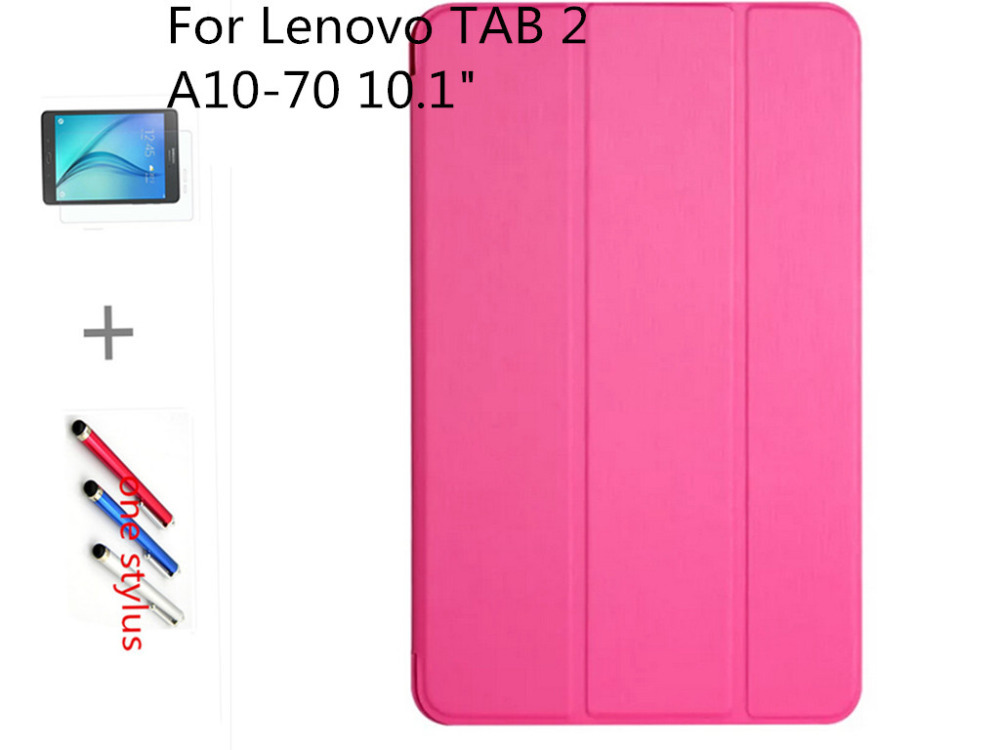 Stand PU Leather Case cover For Lenovo Tab2 A10-70 Tablet Ultra Slim Magnetic 3 Fold Folio +2gifts (stylus pen+film)<br><br>Aliexpress