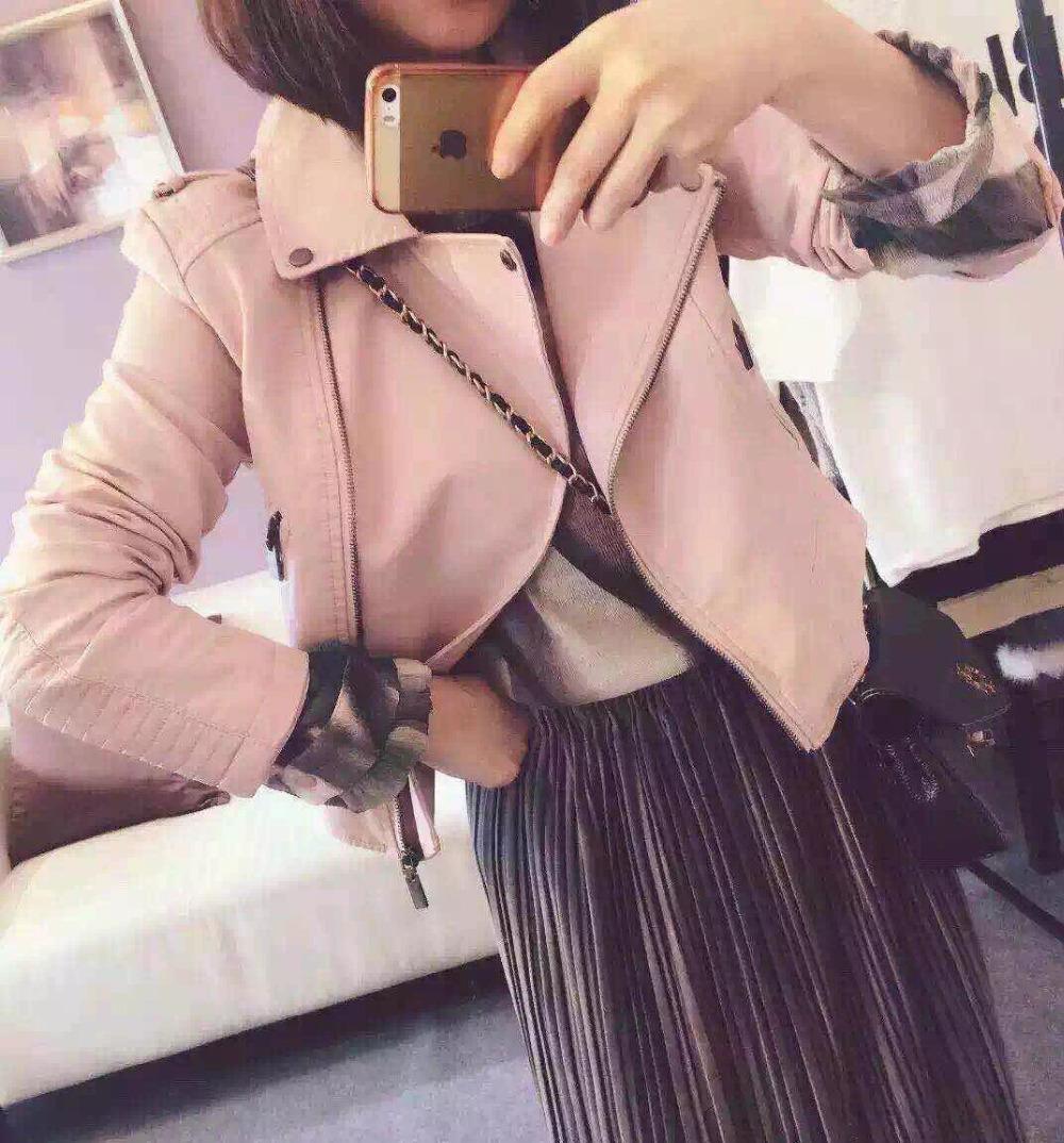 2016 New Fashion Women Motorcycle PU Leather Jackets Female Autumn Short Epaulet Zippers Coat Hot Black White Yellow Outwear(China (Mainland))