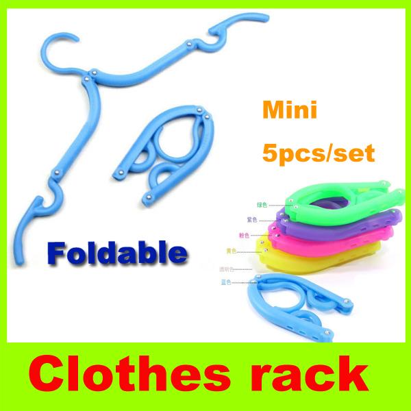 Folding clothes hanger Nonskid Portable Travel Plastic clothes rack foldable Wardrobe Hanger coat hanger Fold Hook clothes peg H(China (Mainland))