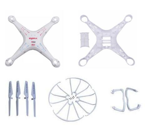 syma x5c x5 X5A 2.4G 4CH 6-Axis RC Helicopter Quadcopter Drone spare parts kits body+blade+landing skid+ Blade Protecting Frame(China (Mainland))