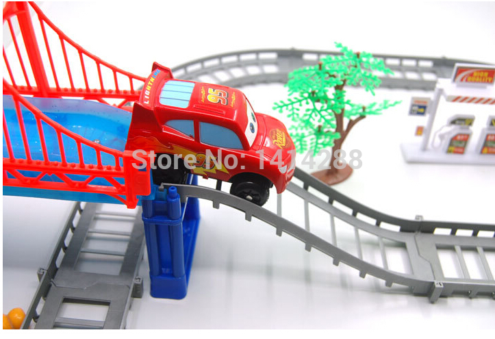 Free Shipping New Wholesale Thomas electric railcar train car set DIY classic children's educational toys Christmas Gift(China (Mainland))