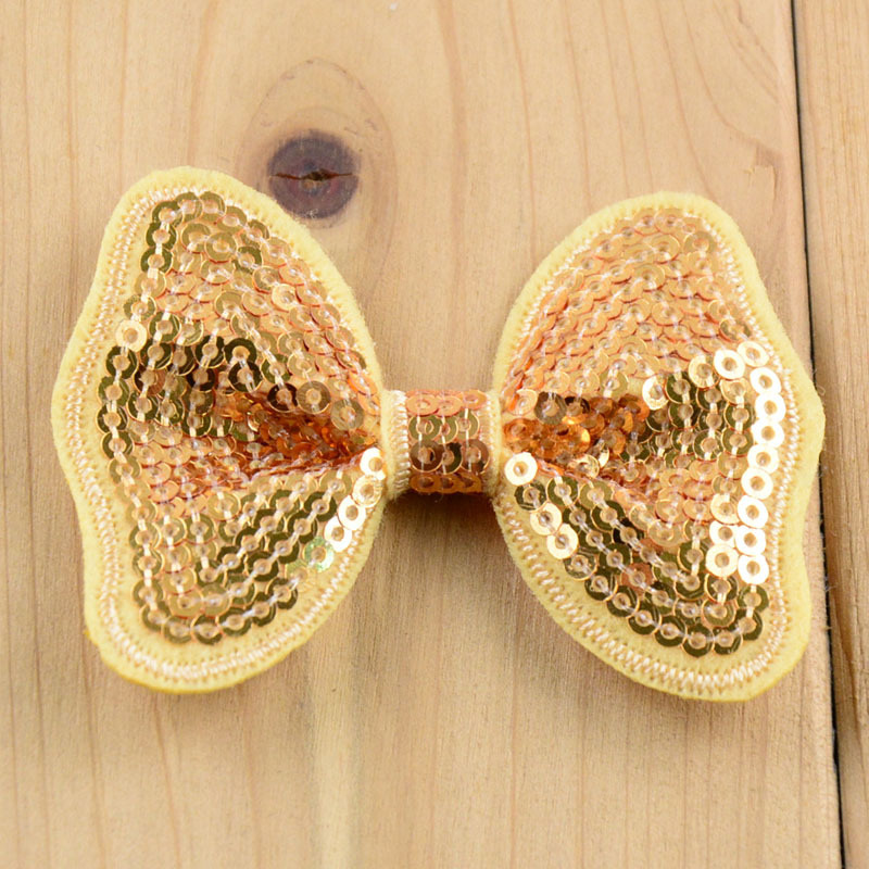 32 COLOR butterfly pattern sparkly sequin bows applique and neon hair bows DIY for headbands SILVER LIME NAVY GOLD 20pcs/lot(China (Mainland))
