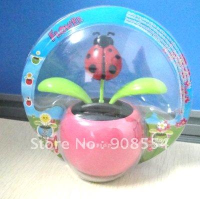wholesale magic cute flip flap solar flower 15pcs per lot Free shipping via China post air mail(China (Mainland))