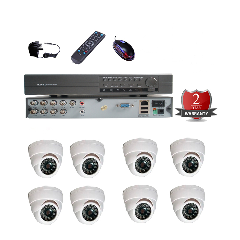 Surveillance Equipment 8CH H.264 D1 Security Camera System with 8 Kameras of Night Vision Day and Night(China (Mainland))