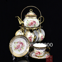 European Titanium Wedding Gift 13 Piece Ceramic Tea Set Tea Service