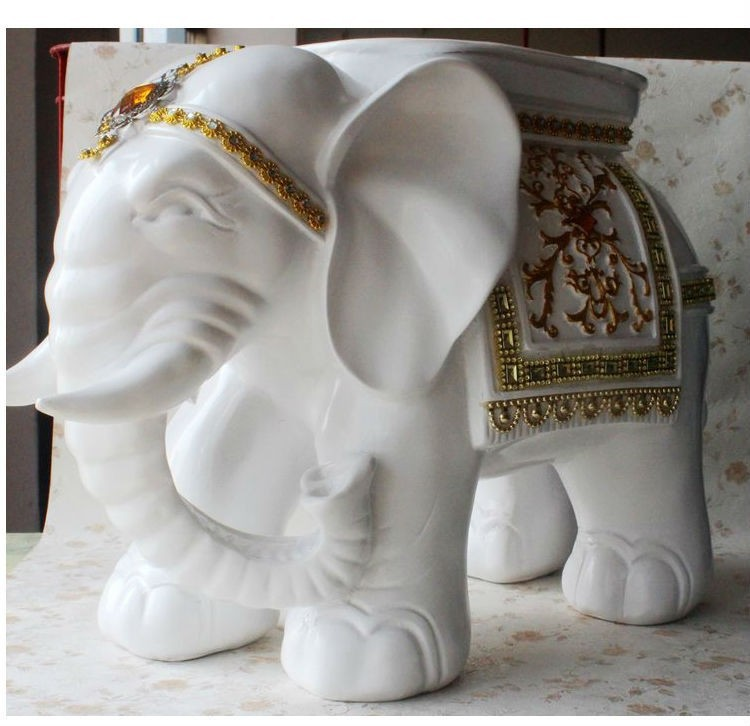 2017 elephant shape ottoman sofa stool footstool footrest home furniture christmas crafts desktop decoration