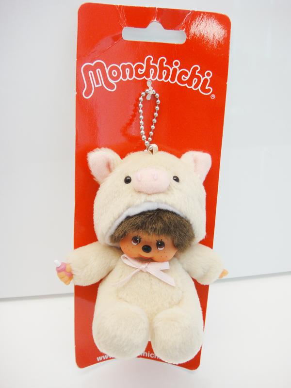 Monchhichi MONCHHICHI animal series - pigs mobile phone chain 242620(China (Mainland))