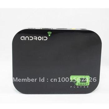 Free Shipping Black 4GB Android 4.0 WIFI WLAN LAN Smart Media TV Box Internet TV Player 1080P HD SD