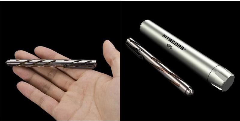 Nitecore NTP10 TitaniuNitecore Titanium Fisher Space Pen NTP10 with Aluminum alloy Case(China (Mainland))