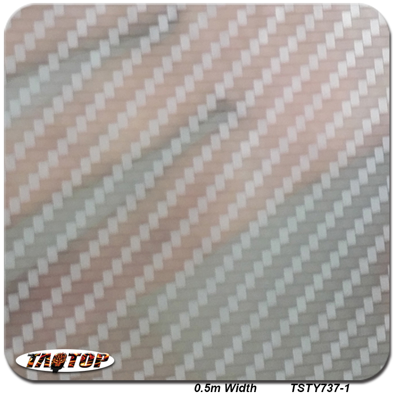 TSAUTOP TSTY737-1 0.5m 10m New Sliver Transparent Carbon Fiber Pattern Liquid Image Hydrographic Water Transfer Printing Film(China (Mainland))