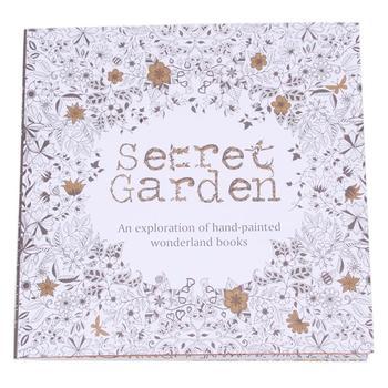 Секретный сад книжка-раскраска английская версия рисунок книга интересная граффити книги