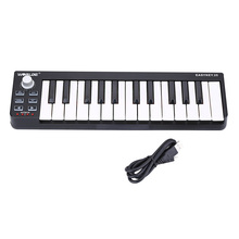 High Quality Easykey Portable Mini 25-Key USB MIDI Keyboard Controller with USB Cable 25 Velocity-sensitive Mini-keyboard Keys(China (Mainland))