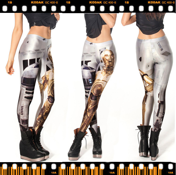 Free shipping One Size 3D Digital Robot Printed Women Sexy Fitness Fashion clothing Accessories Slimming ladies Leggings()