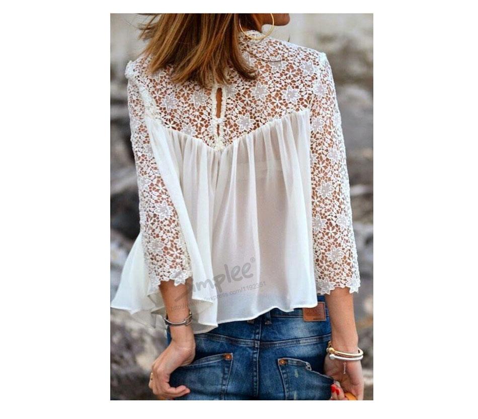 Вязание крючком женской рубашки 54