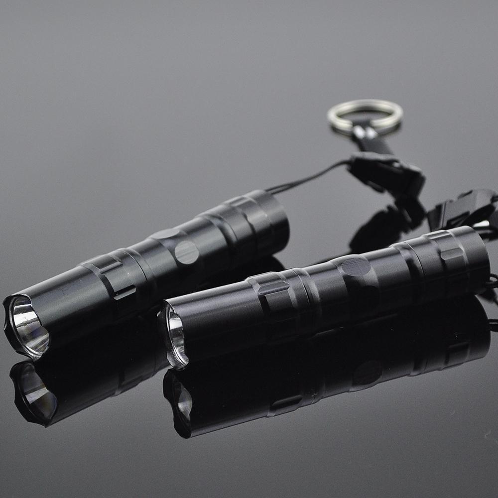 2pcs Mini Free shipping Waterproof Flashlight Gift LED penlight flashlight super light compact small flashlight keychain ZK80(China (Mainland))