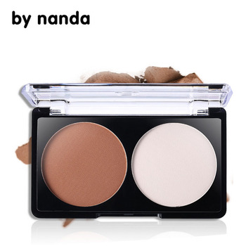 2 цвет бронзатор маркер палитра порошок нанда макияж обрезки порошок составляют нос контур косметическая вс-затенение порошок