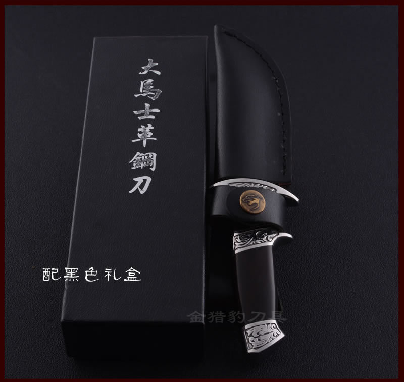 Buy Damascus Knife High Grade Gold Wood Handle Damascus Steel Fixed Collection knife Outdoor Tools Damascus Hunting Knife cheap