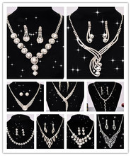 Classic Bride Jewelry Sets Crystal Rhinestone Necklace Bride Acessory Free Shipping(China (Mainland))
