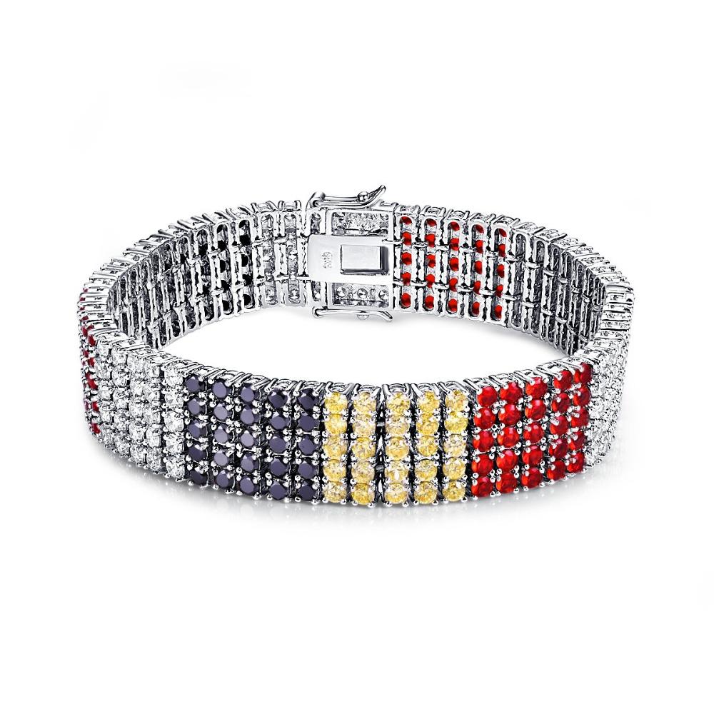CQueen Jewelry Wedding Party Citrine Black Spinel Garnet White CZ Diamond 18K Gold Plated Fashion Bracelet for Women Wholesale