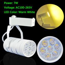 Trasporto libero luci di soffitto 7 w bianco caldo 630lm ha condotto binario spotlight negozio luci incontro LEDSD126..(China (Mainland))