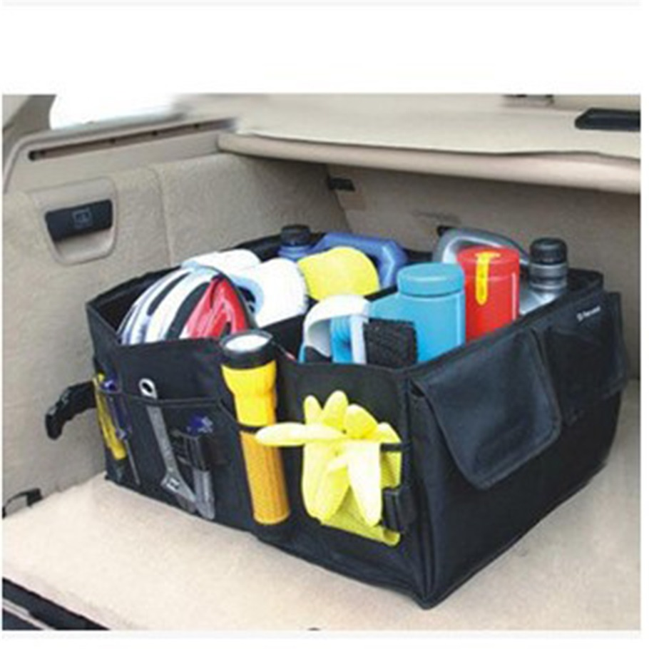New Multipurpose Trunk Pouch Car Glove Box Storage Cubby Box Collapsible Tidy Car Bag auto Organizer hot selling(China (Mainland))