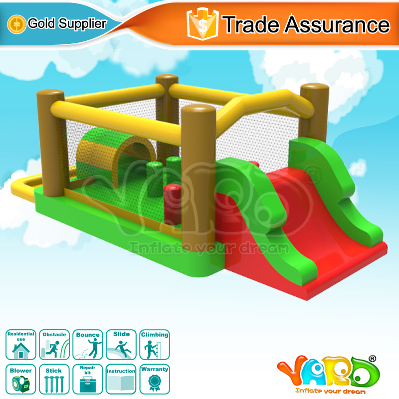 Obstacle course inflatable bounce house jumping bouncer bouncy castle moonwalk(China (Mainland))