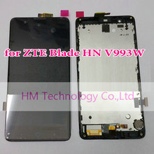 Black LCD+TP+Frame for ZTE Blade HN V993W /5.0″ LCD Display+Touch Screen Digitizer with Frame Replacement Free HK Post+Tools