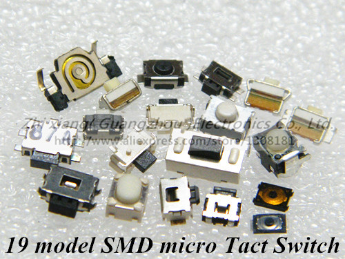 19 model 190pcs SMD micro Switch side button switch widely used for MP3 MP4 MP5 Tablet